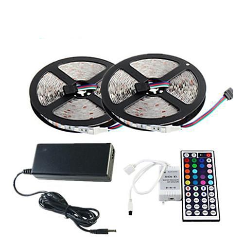 zzdm водонепроницаемый 2 ? 5 м 150x5050 SMD RGB светодиодные полосы света и 44key пульт дистанционного управления (AC110-240V)