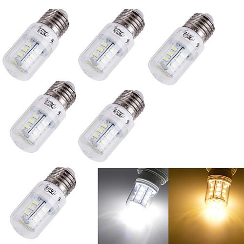 3 Вт. 3000/6000 lm E14 E26/E27 LED лампы типа Корн T 24 светодиоды SMD 5730 Декоративная Тёплый белый Холодный белый AC 110-130 В AC