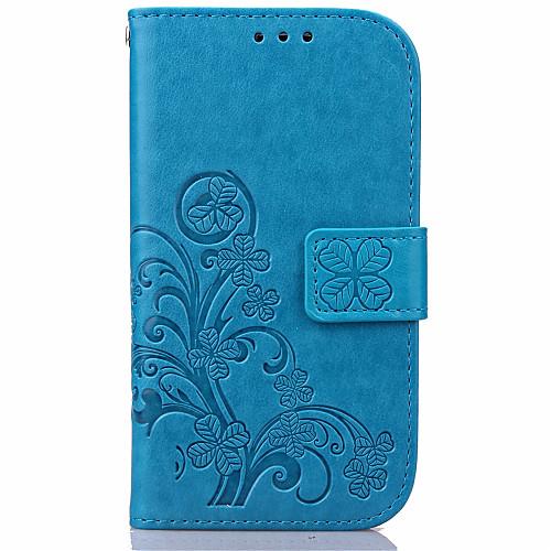 Кейс для Назначение SSamsung Galaxy Samsung Galaxy S7 Edge Кошелек / Бумажник для карт / со стендом Чехол Цветы Кожа PU для S7 edge / S7 / S6 edge plus фото