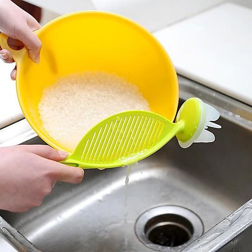 кухня рисовая фасоль промывка дуршлаг сетчатый креативный инструмент практичное пластиковое сито