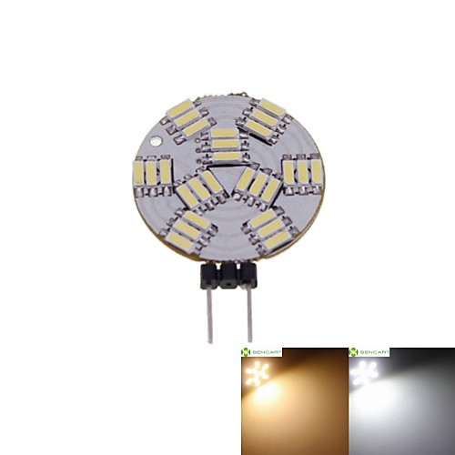 SENCART 2 Вт. 3000-3500/6000-6500 lm G4 Точечное LED освещение MR11 27 светодиоды SMD 4014 Диммируемая Тёплый белый Естественный белый DC