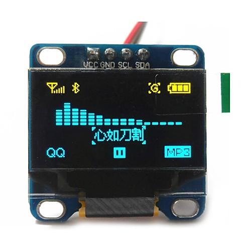 0.96 дюйм желтый и синий i2c IIC серийный 128x64 OLED LCD OLED водить модуль для Arduino дисплея 51 msp420 stim32 Scr 1 3 inch 128x64 oled display module blue 7 pins spi interface diy oled screen diplay compatible for arduino