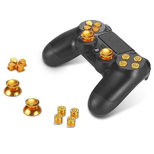 металлические кнопки abxy кнопки  Thumbsticks сжатие большого пальца руки и хром D-Pad для Sony PS4 DualShock 4 контроллера мод комплект