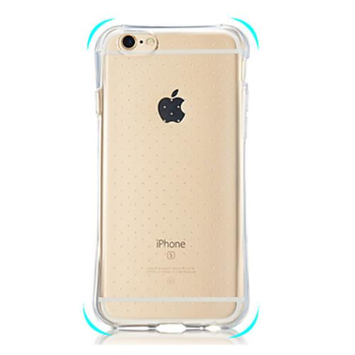 Кейс для Назначение iPhone 7 Plus IPhone 7 iPhone 5 Apple Кейс для iPhone 5 Защита от удара Прозрачный Кейс на заднюю панель Сплошной цвет