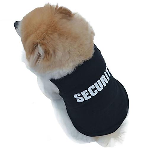 Кошка Собака Футболка Одежда для собак Полиция/армия Черный Хлопок Костюм Для домашних животных Муж. Жен. Косплей Мода Свадьба