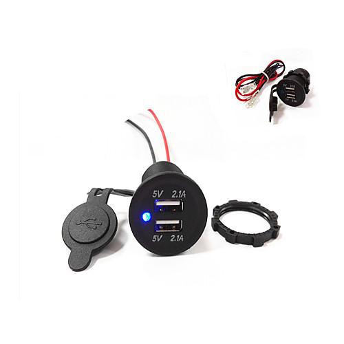 Купить со скидкой двойной USB автомобильное зарядное устройство 5v 4.2a высокое качество! водонепроницаемый!