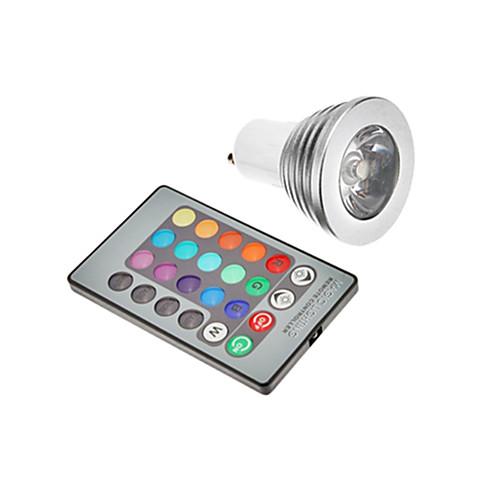 3 Вт. 300 lm GU10 E26/E27 Точечное LED освещение светодиоды RGB AC 85-265V