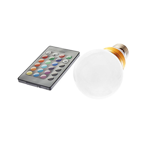 5W E26/E27 Круглые LED лампы G60 1 lm RGB На пульте управления AC 85-265 V <br>