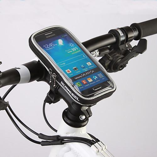 ROSWHEEL Сотовый телефон сумка / Бардачок на руль 4.8 дюймовый Сенсорный экран Велоспорт для Samsung Galaxy S6 / iPhone 5c / iPhone 4/4S брашинг dewal деревянный с пл штифтом нат щетина d 22 56 мм 948714