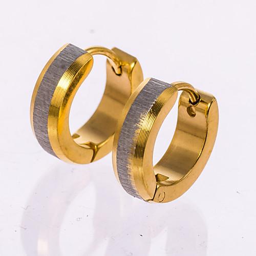 Муж. Розовое золото Стерлинговое серебро Серьги-гвоздики Серьги-кольца - Золотой Серьги Назначение Свадьба Для вечеринок Повседневные