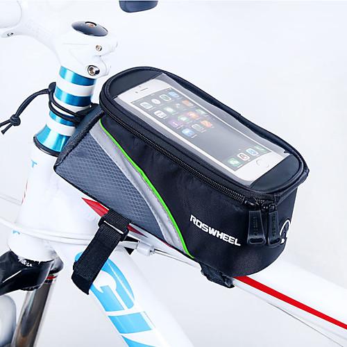 ROSWHEEL Сотовый телефон сумка / Бардачок на раму 4.8 дюймовый Сенсорный экран Велоспорт для iPhone 8/7/6S/6 Красный / Водонепроницаемая застежка-молния