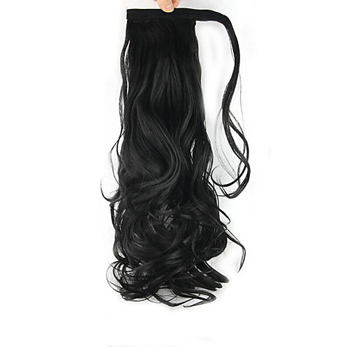 На клипсе Конские хвостики Оберните вокруг Искусственные волосы Волосы Наращивание волос Кудрявый Волнистый