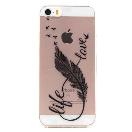 Кейс для Назначение iPhone 7 Plus IPhone 7 iPhone SE/5s/5 iPhone 5 Apple Кейс для iPhone 5 Прозрачный С узором Кейс на заднюю панель точные копии iphone 5 в ульяновске