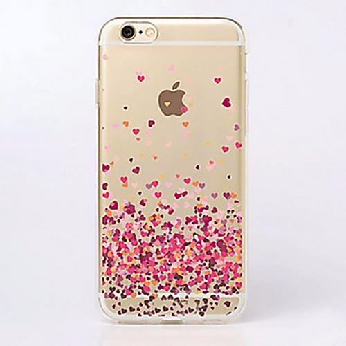 Кейс для Назначение Apple iPhone X iPhone 8 iPhone 6 iPhone 6 Plus iPhone 7 Plus iPhone 7 Ультратонкий Прозрачный С узором Кейс на заднюю