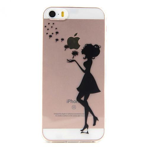 Кейс для Назначение iPhone 7 Plus IPhone 7 iPhone SE/5s/5 iPhone 5 Apple iPhone X iPhone X iPhone 8 Кейс для iPhone 5 Прозрачный С узором точные копии iphone 5 в ульяновске