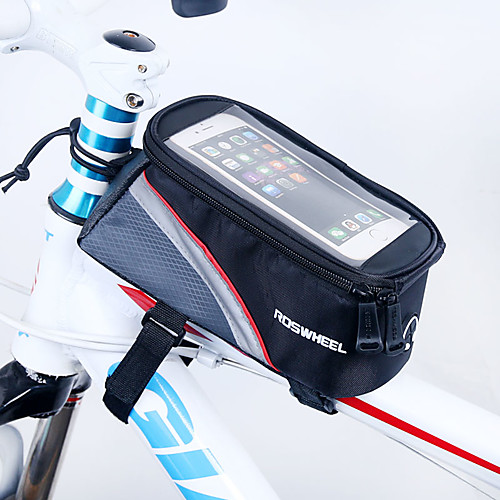ROSWHEEL Сотовый телефон сумка / Бардачок на раму 5.5 дюймовый Сенсорный экран Велоспорт для iPhone 8 Plus / 7 Plus / 6S Plus / 6 Plus / iPhone X Красный / Водонепроницаемая застежка-молния