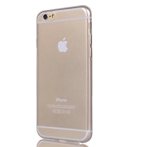 Кейс для Назначение Apple iPhone 6 iPhone 6 Plus iPhone 7 Plus iPhone 7 Прозрачный Кейс на заднюю панель Сплошной цвет Мягкий ТПУ для