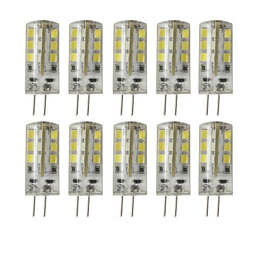 10 шт. 3 Вт. 200-250 lm G4 Двухштырьковые LED лампы T 24 светодиоды SMD 2835 Диммируемая Декоративная Тёплый белый Холодный белый DC 12V цена