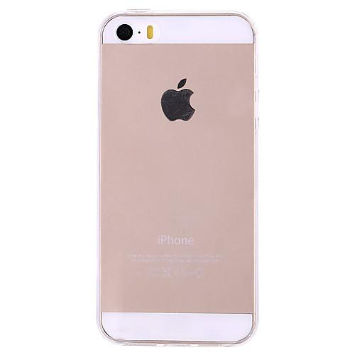 Кейс для Назначение iPhone 5 Apple Кейс для iPhone 5 Ультратонкий Прозрачный Кейс на заднюю панель Сплошной цвет Твердый ПК для iPhone