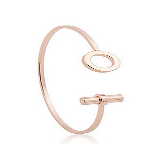 Жен. Браслет разомкнутое кольцо - Богемные, Мода Браслеты Бижутерия Розовое золото Назначение Повседневные