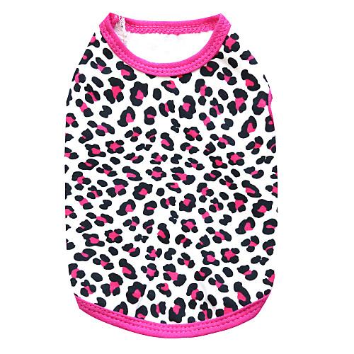 Кошка Собака Футболка Одежда для собак Леопард Черный Розовый Черный/Желтый Хлопок Костюм Для домашних животных Муж. Жен. Мода кошка собака футболка одежда для собак леопард черный розовый черный желтый хлопок костюм для домашних животных муж жен мода