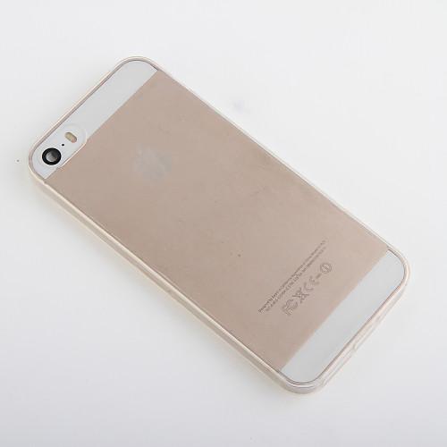 Кейс для Назначение iPhone 5 Apple Кейс для iPhone 5 Прозрачный Кейс на заднюю панель Сплошной цвет Мягкий ТПУ для iPhone SE/5s iPhone 5