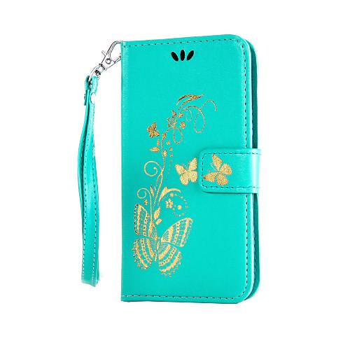 Кейс для Назначение LG K8 / LG / LG G4 Кейс для LG Кошелек / Бумажник для карт / со стендом Чехол Цветы Твердый Кожа PU для LG G4 Stylus / LS770 фото