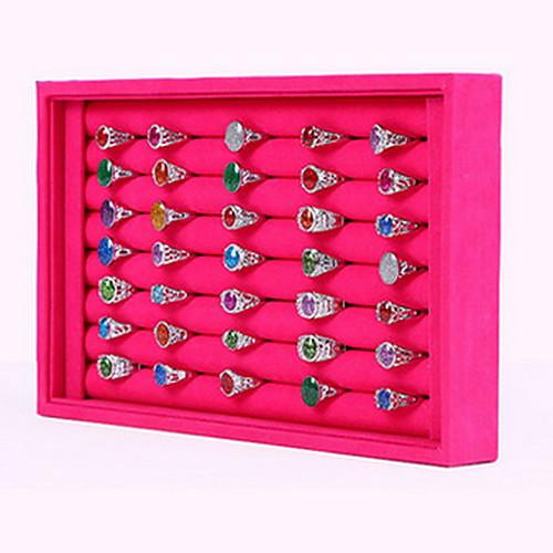 Квадратный Коробки для бижутерии / Подставки для бижутерии - Мода Розоватый, Черный и белый 23 cm 14.5 cm / Жен.