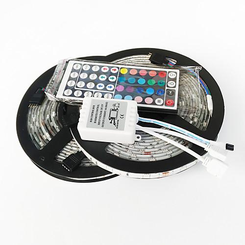 ZDM 2x5M Наборы ламп 2150 светодиоды 1 пульт дистанционного управления 44Keys RGB Можно резать Самоклеющиеся Декоративная 12V 1 комплект