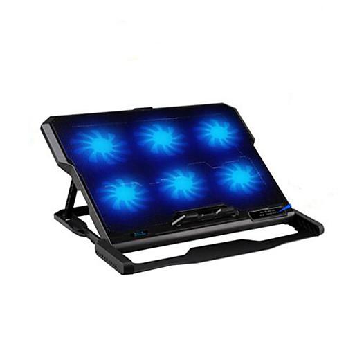 шесть вентиляторов эргономичной охладитель охлаждения колодки с держателем стойки для ноутбука ноутбук ssd винчестер для ноутбука