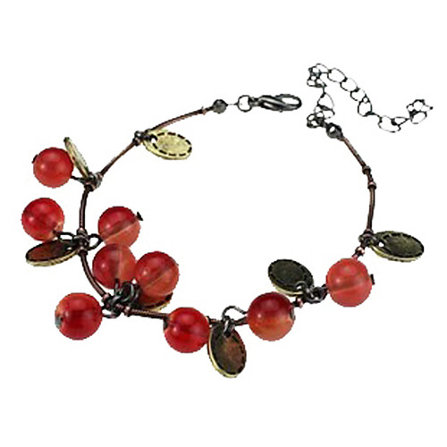 Women's Charm Bracelet Resin Ladies Fashion Bracelet Jewelry Red For Daily