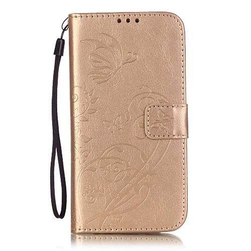 Кейс для Назначение SSamsung Galaxy Кейс для Samsung Galaxy Бумажник для карт Кошелек со стендом Флип Рельефный Чехол Цветы Мягкий Кожа клип кейс ibox fresh для samsung galaxy s5 mini черный
