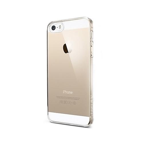 Кейс для Назначение iPhone 5 Apple Кейс для iPhone 5 Прозрачный Кейс на заднюю панель Сплошной цвет Твердый ПК для iPhone SE/5s iPhone 5