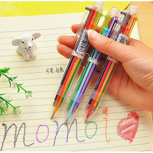 6-цветные принадлежности шариковая ручка цвет пера школы