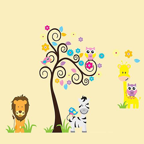 Животные Натюрморт Мода Цветы Мультипликация Отдых ботанический Наклейки Простые наклейки Декоративные наклейки на стены, Винил Украшение детские наклейки росмэн наклеечная мозаика животные
