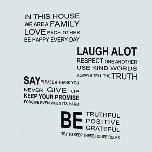 Наклейки на холодильник - Стикеры стикеров Words & Quotes Натюрморт Гостиная / Спальня / Столовая / Съемная
