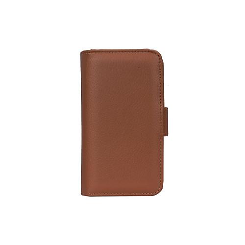 DE JI Кейс для Назначение SSamsung Galaxy Кейс для  Samsung Galaxy Кошелек / Бумажник для карт / со стендом Чехол Сплошной цвет Кожа PU для S6 edge / S6 / S5