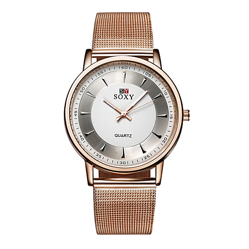 Men's Wrist Watch Gold Watch Quartz Stainless Steel Gold Casual Watch Analog Ladies Charm Fashion - Rose Gold