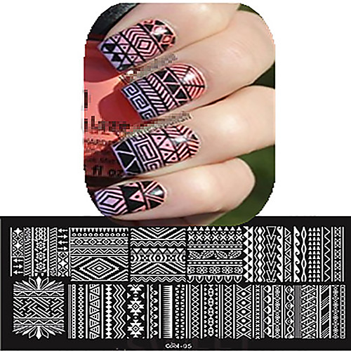 1 pcs Составление Инструменты & Аксессуары / Штамповка плиты / Инструмент для штамповки ногтей шаблон Стиль / Профессиональный / Высокое качество Дизайн ногтей Модный дизайн