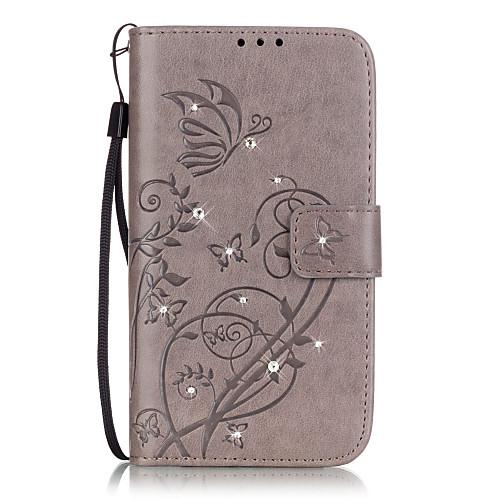 Для Кейс для Huawei / P9 / P9 Lite / P8 Lite Бумажник для карт / Кошелек / Стразы / со стендом / Флип / Рельефный Кейс для Чехол Кейс для чехол флип кейс honor smart cover для huawei honor 5x серый [51991325]