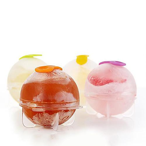 4шт / комплект пластиковый кубик льда шарика кирпича мейкера лотка круглый форма льда прессформы бар инструменты для поделок охлаждения
