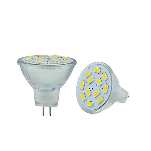 2.5W 250-300lm GU4(MR11) Двухштырьковые LED лампы MR11 12 Светодиодные бусины SMD 5730 Декоративная Тёплый белый Холодный белый 12V