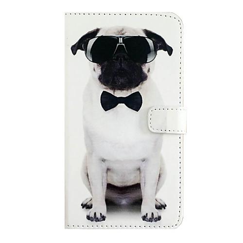 Кейс для Назначение Apple iPhone X iPhone 8 iPhone 6 iPhone 7 Plus iPhone 7 Бумажник для карт Флип Чехол С собакой Твердый Кожа PU для