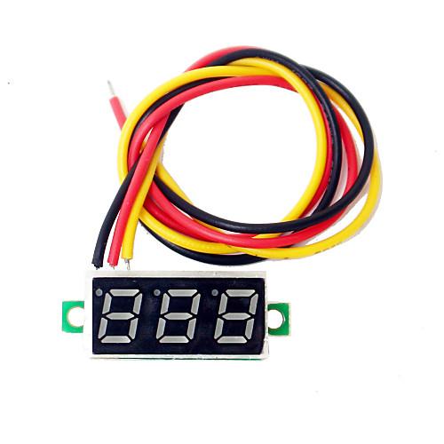0,28 дюйма мини светодиодный дисплей dc2.5-30v метр вольт напряжения цифровой вольтметр dc 4 5 30v 0 50a двойной красный светодиодный цифровой вольтметр амперметр напряжение питания amp es9p