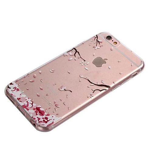 Кейс для Назначение Apple iPhone 8 iPhone 8 Plus iPhone 6 iPhone 6 Plus Прозрачный Кейс на заднюю панель Цветы Мягкий ТПУ для iPhone 8