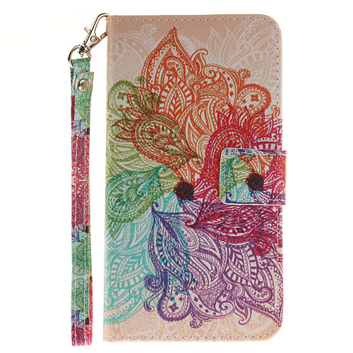 Кейс для Назначение LG G3 LG K8 LG LG K10 LG K7 LG G5 LG G4 Кейс для LG Бумажник для карт Кошелек со стендом Флип С узором Чехол Цветы кейс для назначение lg k8 lg lg k5 lg k4 lg k10 lg k7 lg g5 lg g4 бумажник для карт кошелек со стендом флип чехол сплошной цвет твердый