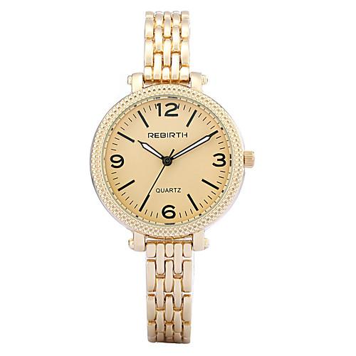 REBIRTH Жен. Кварцевый Наручные часы Часы-браслет / Горячая распродажа сплав Группа На каждый день Elegant Мода Серебристый металл