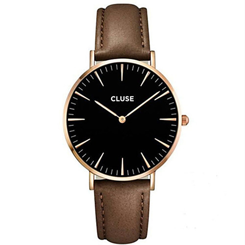 Муж. / Для пары Модные часы / Наручные часы / сплав Группа На каждый день Черный / Серебристый металл / Коричневый / Нержавеющая сталь