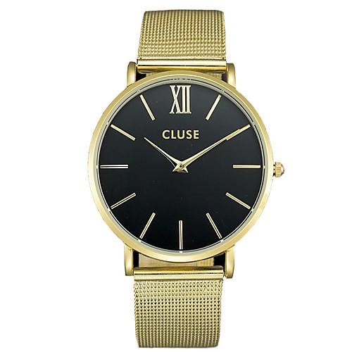 Муж. / Для пары Модные часы / Наручные часы / сплав Группа На каждый день Черный / Серебристый металл / Золотистый
