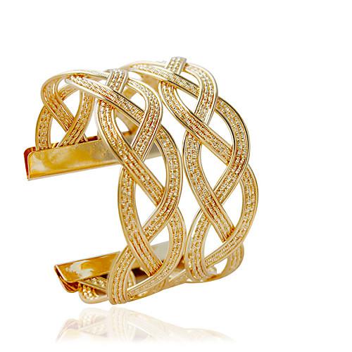 Women's Cuff Bracelet Fashion Alloy Bracelet Jewelry Silver / Golden For